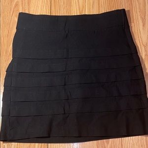 Black Tight Fitting Skirt